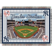 "New York Yankees MLB Yankee Stadium Commemorative Woven Tapestry Throw (48x60"")"""