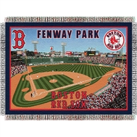 "Boston Red Sox MLB Fenway Park"" Triple Woven Throw"""