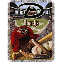 "Arizona Diamondbacks MLB Woven Tapestry Throw (Home Field Advantage) (48x60"")"""