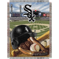 "Chicago White Sox MLB Woven Tapestry Throw (Home Field Advantage) (48x60"")"""