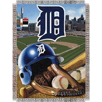 "Detroit Tigers MLB Woven Tapestry Throw (Home Field Advantage) (48x60"")"""