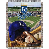 "Kansas City Royals MLB Woven Tapestry Throw (Home Field Advantage) (48x60"")"""