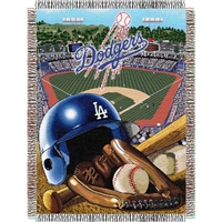 "Los Angeles Dodgers MLB Woven Tapestry Throw (Home Field Advantage) (48x60"")"""