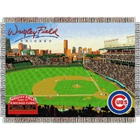 "Chicago Cubs MLB Wrigley Field"" Triple Woven Throw"""