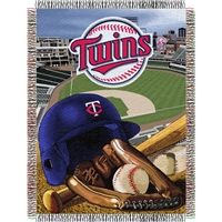 "Minnesota Twins MLB Woven Tapestry Throw (Home Field Advantage) (48x60"")"""