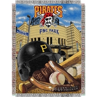 "Pittsburgh Pirates MLB Woven Tapestry Throw (Home Field Advantage) (48x60"")"""
