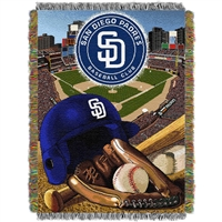 "San Diego Padres MLB Woven Tapestry Throw (Home Field Advantage) (48x60"")"""