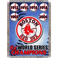 "Boston Red Sox MLB World Series Commemorative Woven Tapestry Throw (48x60"")"""