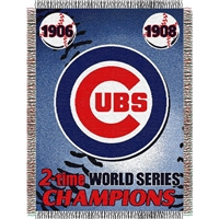 "Chicago Cubs MLB World Series Commemorative Woven Tapestry Throw (48x60"")"""