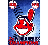 "Cleveland Indians MLB World Series Commemorative Woven Tapestry Throw (48x60"")"""