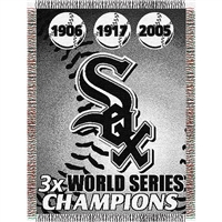 "Chicago White Sox MLB World Series Commemorative Woven Tapestry Throw (48x60"")"""