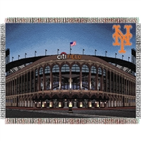"New York Mets MLB Citi Field"" Triple Woven Throw"""