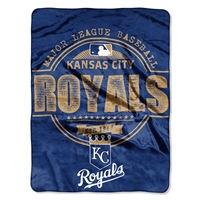 Kansas City Royals MLB Micro Raschel Blanket (Triple Play Series) (46in x 60in)