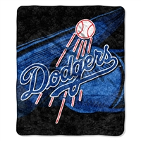 "Los Angeles Dodgers MLB Sherpa Throw (Big Stick Series) (50x60"")"""
