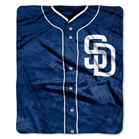 San Diego Padres MLB Royal Plush Raschel Blanket (Jersey Series) (50in x 60in)