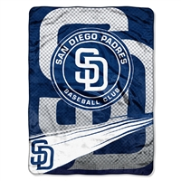 San Diego Padres MLB Royal Plush Raschel Blanket (Speed Series) (60x80)