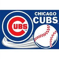 "Chicago Cubs MLB Tufted Rug (30x20"")"""