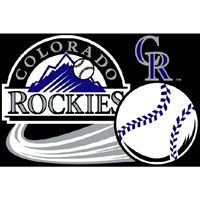 "Colorado Rockies MLB Tufted Rug (30x20"")"""