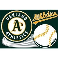 "Oakland Athletics MLB Tufted Rug (30x20"")"""