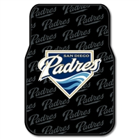 "San Diego Padres MLB Car Front Floor Mats (2 Front) (17x25"")"""
