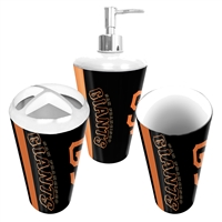 San Francisco Giants MLB Bath Tumbler, Toothbrush Holder & Soap Pump (3pc Set)