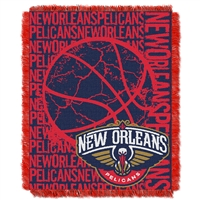 New Orleans Pelicans NBA Triple Woven Jacquard Throw (Double Play Series) (48x60)