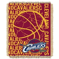 Cleveland Cavaliers NBA Triple Woven Jacquard Throw (Double Play Series) (48x60)