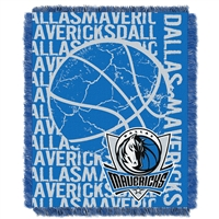 Dallas Mavericks NBA Triple Woven Jacquard Throw (Double Play Series) (48x60)