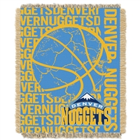 Denver Nuggets NBA Triple Woven Jacquard Throw (Double Play Series) (48x60)