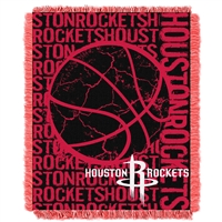 Houston Rockets NBA Triple Woven Jacquard Throw (Double Play Series) (48x60)