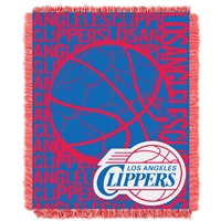 Los Angeles Clippers NBA Triple Woven Jacquard Throw (Double Play Series) (48x60)