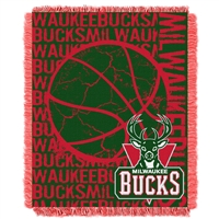 Milwaukee Bucks NBA Triple Woven Jacquard Throw (Double Play Series) (48x60)