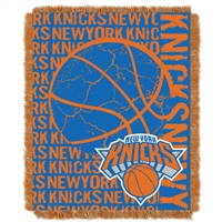 New York Knicks NBA Triple Woven Jacquard Throw (Double Play Series) (48x60)