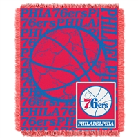 Philadelphia 76ers NBA Triple Woven Jacquard Throw (Double Play Series) (48x60)