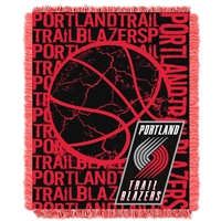 Portland Trail Blazers NBA Triple Woven Jacquard Throw (Double Play Series) (48x60)