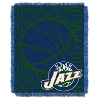Utah Jazz NBA Triple Woven Jacquard Throw (Double Play Series) (48x60)