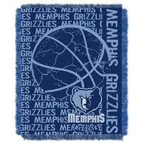 Memphis Grizzlies NBA Triple Woven Jacquard Throw (Double Play Series) (48x60)