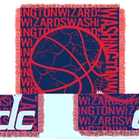 Washington Wizards NBA Triple Woven Jacquard Throw (Double Play Series) (48x60)