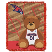 Atlanta Hawks NBA Triple Woven Jacquard Throw (Half Court Baby Series) (36x48)