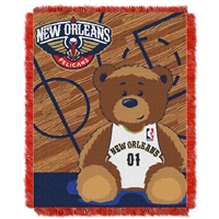 New Orleans Pelicans NBA Triple Woven Jacquard Throw (Half Court Baby Series) (36x48)