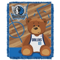 Dallas Mavericks NBA Triple Woven Jacquard Throw (Half Court Baby Series) (36x48)