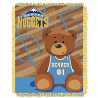 Denver Nuggets NBA Triple Woven Jacquard Throw (Half Court Baby Series) (36x48)