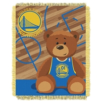 Golden State Warriors NBA Triple Woven Jacquard Throw (Half Court Baby Series) (36x48)
