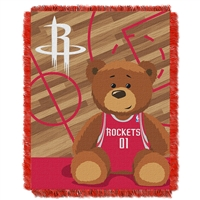 Houston Rockets NBA Triple Woven Jacquard Throw (Half Court Baby Series) (36x48)