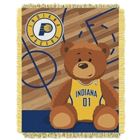 Indiana Pacers NBA Triple Woven Jacquard Throw (Half Court Baby Series) (36x48)