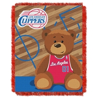 Los Angeles Clippers NBA Triple Woven Jacquard Throw (Half Court Baby Series) (36x48)
