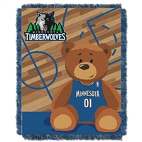 Minnesota Timberwolves NBA Triple Woven Jacquard Throw (Half Court Baby Series) (36x48)
