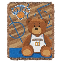 New York Knicks NBA Triple Woven Jacquard Throw (Half Court Baby Series) (36x48)