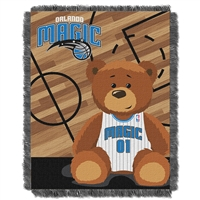 Orlando Magic NBA Triple Woven Jacquard Throw (Half Court Baby Series) (36x48)