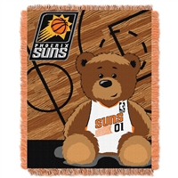 Phoenix Suns NBA Triple Woven Jacquard Throw (Half Court Baby Series) (36x48)